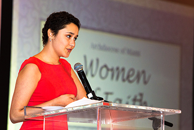 Special guest speaker and St. Brendan High School student Mariana Ramirez helped the Archdiocese of Miami honor 10 outstanding women from across South Florida for their work, dedication and commitment to the Catholic Church.