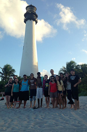 The team took some time out for fellowship one evening at Key Biscayne.