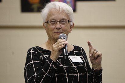 Kay Kent of St. Helen Parish in Fort Lauderdale recalls an unhappy experience with customer service. The point was to illustrate that unhappy experiences are shared with more people and more easily remembered than good ones.