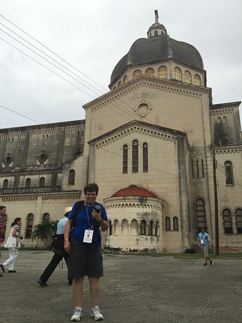 Me outside the church of Jesus de Miramar in Havana, where I was baptized.