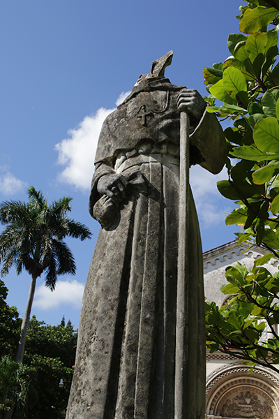 The damaged statue of St. Thomas Villanova at the old Santo Tomas de Villanueva University in Havana shows that the statue is lacking a head. The chapel and university have not been in ecclesial use since it was seized by Cuban authorities following the Bay of Pigs U.S. military operation in 1961.