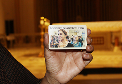 Card explaining the situation of Christians in the Middle East, prepared by Estudio Garrido, an Argentinian law firm.