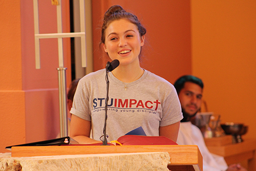 Nicole Czubkowsi, a student from Archbishop Edward McCarthy High School, shares her testimony about the lessons she learned through STU Impact. The summer theology institute, hosted by St. Thomas University, ran from June 17-24.