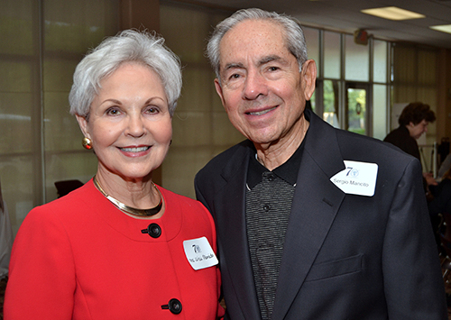 Sergio Mancito and his wife, Alicia, attended the 70th anniversary Mass for St. Thomas University.