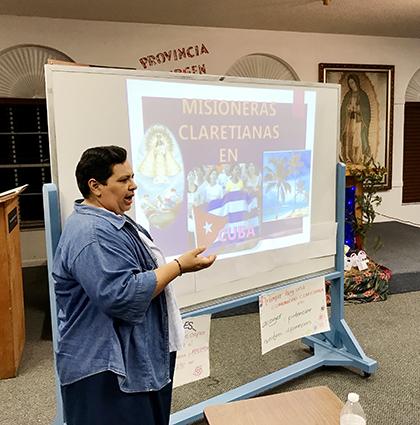 La Hermana Cecilia Medina, originaria de Argentina, habló sobre los retos de la Evangelización que su congregación, las Misioneras Claretianas, afronta en Cuba, donde ella y sus devotas compañeras mantienen encendida la llama de los fundadores de la congregación religiosa.