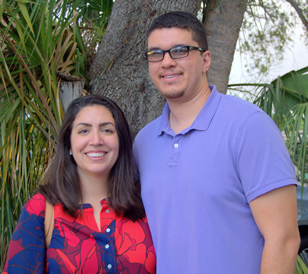 James and Elizabeth Richards looked forward to using the tools they learned during the Marriage Summit at St. Brendan High School in Miami.