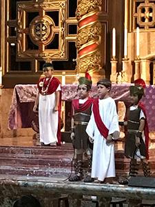 Pontius Pilate, played by Juan Diego Alvarez, condemns Jesus to death.