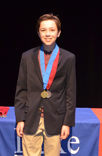 St. Bonaventure seventh-grader Richard