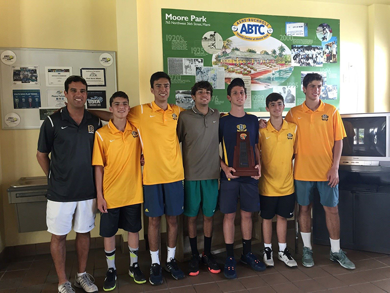 The Belen Jesuit Prep tennis team won its first state championship in the 3A division.