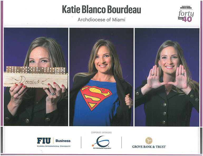 Fun images of Katie Blanco Bourdeau that were featured at the luncheon for the South Florida Business Journal's