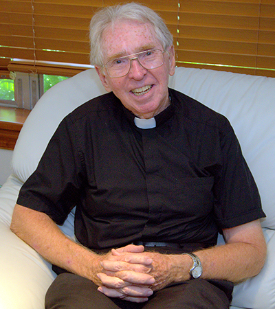 Father Michael Hoyer served Our Lady Queen of Martyrs from 1989 to 2011, the longest of any priest thus far.