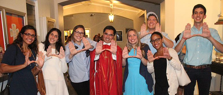 Father Phillip Tran and the UCatholics signal the iconic