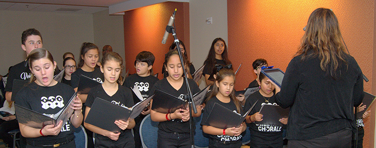 Youth choir of St. Bonaventure Church sings at the 2017 Archdiocesan Catechetical Conference.