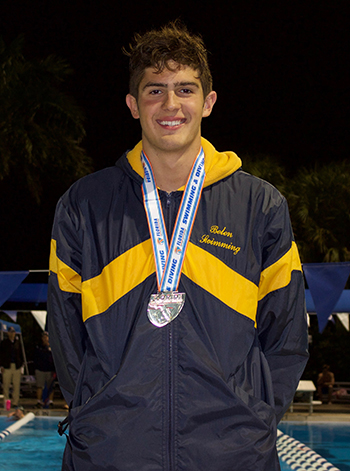 Belen senior Aitor Fungairino won the 200 free with an All American time of 1.34.89, two-tenths of a second off the state record.