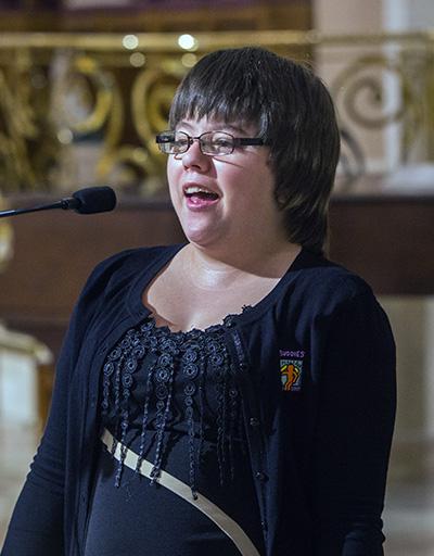 Christina Hundley sings
