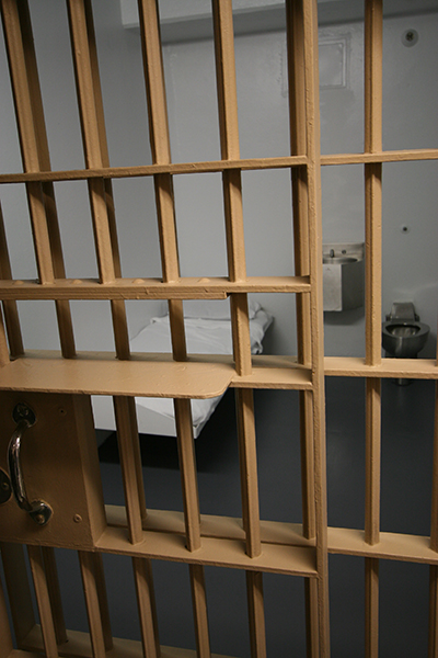 View of a cell in Florida's death row.