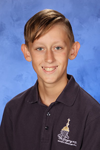 Zachary Allman, grade seven, St. Gregory School, Plantation, won first place in the 2017 Respect Life Essay Contest