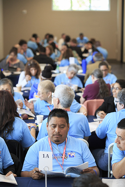 Participants engage in conversation Feb. 23 during the Southeast Regional Encuentro.