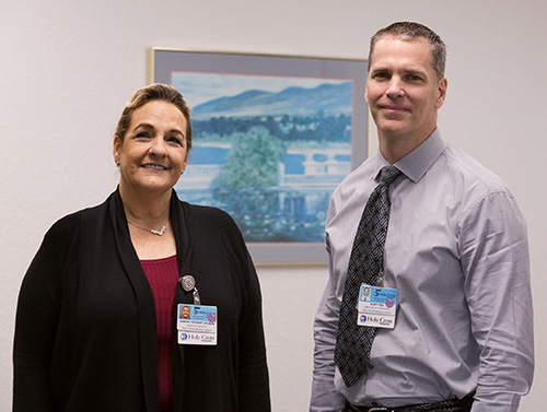 Nurse Sandra Herbert and Kurt Feil, both directors of Operations for Holy Cross Medical Group, are part of Holy Cross Hospital's Sexual Trafficking and Exploitation Program (STEP) linking medical staff with community resources to provide a holistic response to human trafficking in South Florida.
