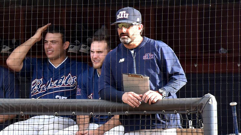 St. Thomas University's head baseball coach, Jorge Perez, far right, has been selected as assistant and first base coach for USA Baseball's 2018 Collegiate National Team.