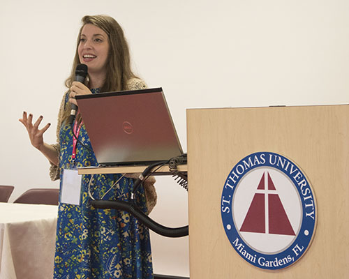 """The Church acknowledges that sexuality and new life are connected and there is no disconnecting them without consequences,"" said Haley Stewart during her keynote presentation at the Women's Health and Fertility Seminar held at St. Thomas University Feb. 24."