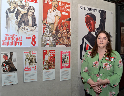 Nazis tailored their message to appeal to many parts of society -- students, workers, farmers, even mothers -- says Erin Cohen, educational coordinator of the Holocaust Documentation and Education Center, whose