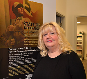 Rositta Kenigsberg, director of the Holocaust Documentation and Education Center, is sponsoring the