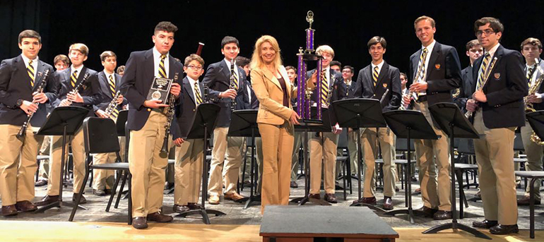 On May 26 the Belen Jesuit Concert Band won the highest praise of the judges and were awarded Superior First Place at the OrlandoFest Music Competition at Universal Studios.