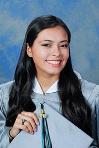 Valedictorian Rebecca Zasloff, Archbishop Edward McCarthy