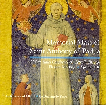 El programa que se diseñó para la Misa de la USCCB, el 14 de junio en la Iglesia St. Pius X, en Fort Lauderdale.