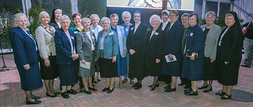 Sisters of St. Joseph of St. Augustine serving throughout Florida pose for a photo after the premiere of the documentary on their 150-year presence in the state,