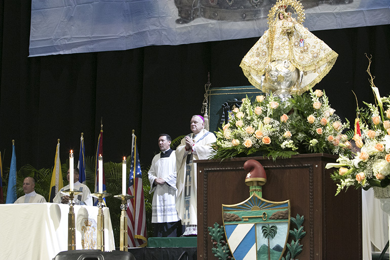 Archbishop Thomas Wenski presides at the annual Mass on the feast of Our Lady of Charity, patroness of Cuba. This year's celebration marked the 20th anniversary of her coronation by St. John Paul II during his 1998 visit to the island.