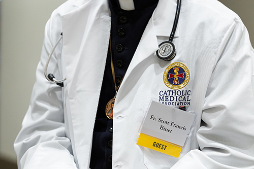 Father Scott Francis Binet was in Fort Lauderdale in June as one of two on-site physicians at the spring meeting of the U.S. bishops.