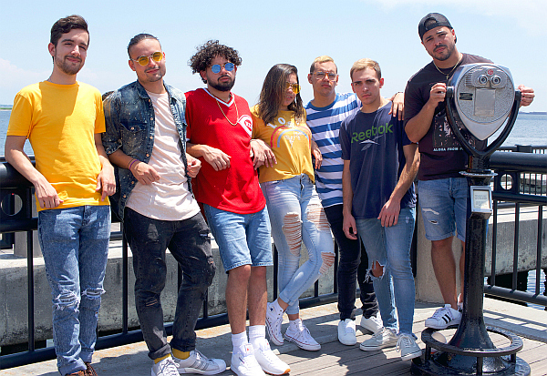 EPIC, whose name is short for Eternal Power in Christ. From left are Ivan Castro, Ricky Gonzalez, Daniel Rodriguez, Jessica Justo, Nico Cabrera, Adrian Gonzalez and Charles Gonzalez.
