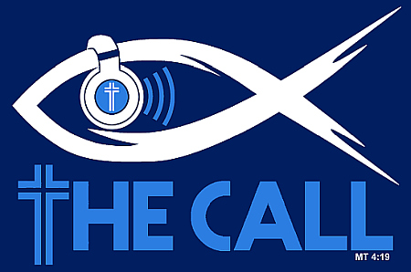 Cheeky T-shirt design for the band The Call shows a fish with headphones. The Bible verse, Matthew 4:19, quotes Jesus saying his disciples will become