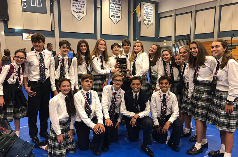 St. Theresa School's eighth-graders won 8 gold, 14 silver and 9 bronze medals at Columbus High School's Academic Olympics.