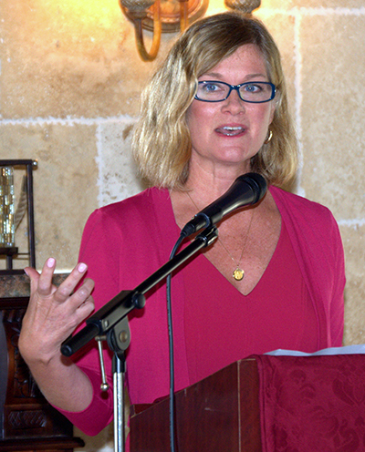 The annual March for Life is drawing non-Catholics and even the nonreligious, says Jeanne Mancini, president of the group, at a brunch cosponsored by the archdiocesan Respect Life Office and the Cuban Association of the Sovereign Order of Malta.