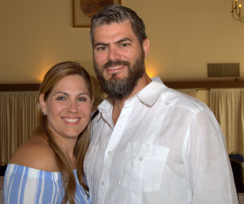 Xavier and Jaclyn Caceres, seen here at a recent Respect Life brunch, said they plan to join the Cuban Association of the Sovereign Order of Malta.