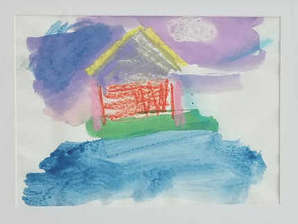 Catholic Charities' New Life Family Center in Miami has an art therapy program to help children who face homelessness cope and express their emotions productively. These drawings were all done by children while staying at New Life. The goal at the heart of New Life Center is for each family to be self-sufficient and permanently housed.