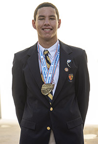 Belen Jesuit's Andres Wong won the Class 3A state swimming championship in the 200-yard freestyle.