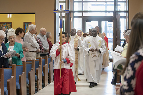 St. Henry Church in Pompano Beach began a year-long celebration of its Golden Jubilee with a special Mass Jan. 12.