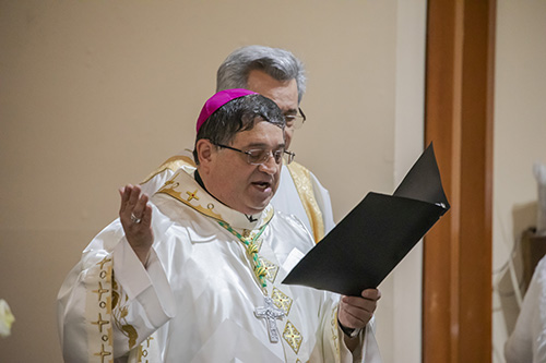 Auxiliary Bishop Enrique Delgado celebrated the Mass marking the start of a year-long celebration of St. Henry Church's golden jubilee.