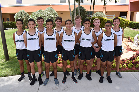 Archbishop McCarthy High School's boys cross country team includes, in alphabetical order: Josiah Acevedo, Adrian De La Rosa, Blake Engelmann, Justin Falon, Roberto Huayamave, Daniel Jardon, William Lyons, Calvin May, Nichola Mestre, Thomas Rodriguez, Benjamin Smith, and Nikolas Torres.