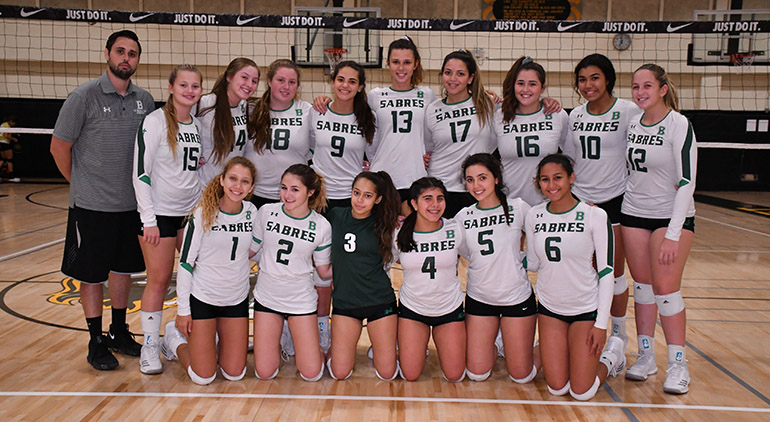 St. Brendan High's girls volleyball team advanced to the Region 4-7A final for the third consecutive season before losing 30-28, 26-24, 25-20 to state finalist Stuart South Fork.