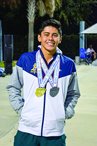 St. Thomas Aquinas High swimmer Juan Zapata became state champion in the boys 100-yard butterfly. He excelled in the classroom as well, carrying a 4.7 grade-point average and scoring a 1350 on his SAT, in addition to making nine practices a week.
