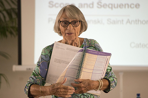 File photo of Patricia Solenski, director of religious education at St. Anthony Parish in Fort Lauderdale, who came up with the idea of having the women's guild members pray individually for each of the 26 students preparing to receive their first Communion.