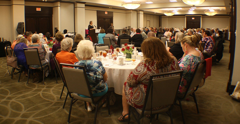 Over 130 guests packed the salon at the Embassy Suites Hotel in Fort Lauderdale to support the Miami Archdiocesan Council of Catholic Women's Scholarship Fund at their 20th annual fundraising luncheon, Feb. 23.