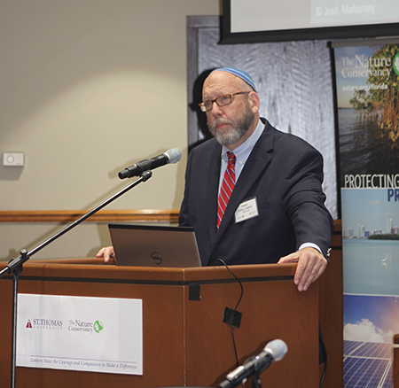 "Rabbi Jeffrey K. Salkin, of Temple Solel in Hollywood, calls climate change ""the 11th plague"" during the Second International Conference on Climate held at St. Thomas University."
