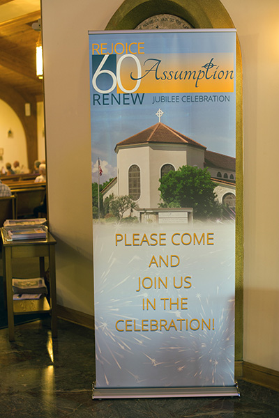 Assumption Church parishioners celebrated the 60th anniversary of their parish, and the 25th anniversary of the dedication of their church, April 27, 2019.