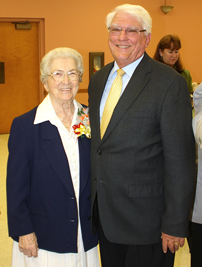 In this 2013 photo, Paul Ott poses with the recently deceased Sister Marie Schramko, who was principal of Cardinal Gibbons high school when he was a student there - and whom he succeeded as principal.